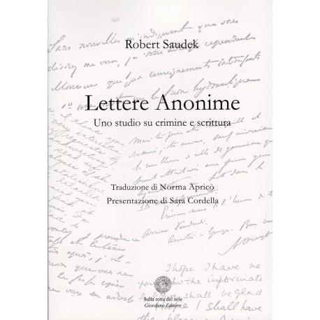 Lettere anonime. Uno studio su crimine e scrittura