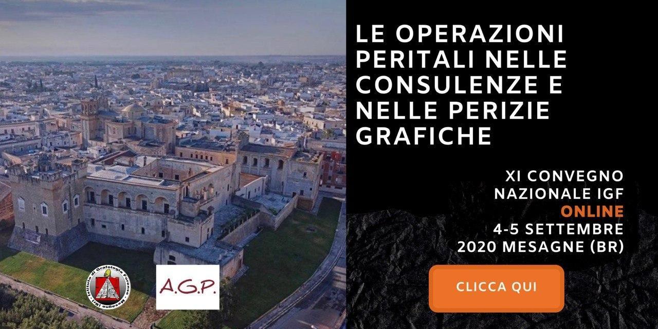 XI Convegno Nazionale Online - Le Operazioni nella consulenze e nelle perizie grafiche