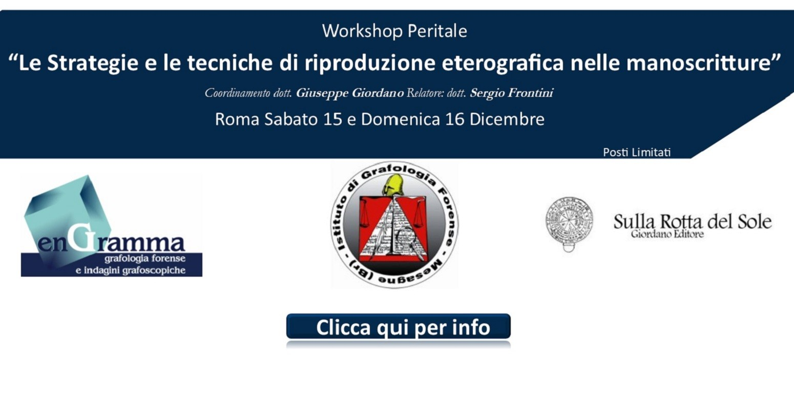 Workshop Peritale: Le strategie e le tecniche di riproduzione eterografica nelle manoscritture